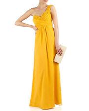 NWOT TED BAKER Golden Yellow Silk One Shoulder SIRI Maxi Dress Gown ~ Sz 2 US 6