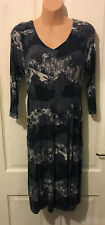 White Stuff Dark Navy 'pottery' Blue Tunic Dress Size 8 With Pockets