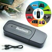 3.5mm AUX To USB Wireless Bluetooth Audio Stereo Car Music Receiver Adapter USA
