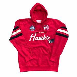 Mitchell & Ness Hardwood Classics Hoodie Men's 2XL Atlanta Hawks Sewn Stitched