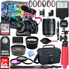 Canon EOS 80D Video Creator w/ 18-135mm Lens, Rode VideoMic, 64GB Memory Bundle