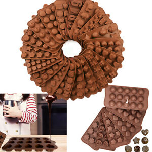 3D Silicone Chocolate Mould Cake Candy Soap Wax Melt Mold Jelly Ice Cube Tray