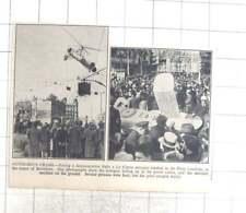 1935 Autogyro Crashes In Plaza Catalunya Barcelona Centre