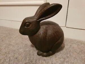 Heavy Rabbit Doorstop/Paperweight - Brown