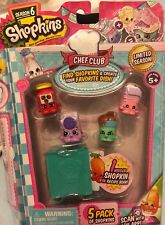 Shopkins Season 6 Chef Club 5 Pack Collection Limited Season BNIB