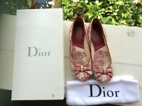 Christian Dior Romance toile ballet flat 36 beautiful