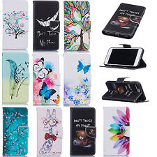 Flip Leather Stand Wallet Pattern Case Cover For iPhone 7 Plus 6S Samsung S7 S8