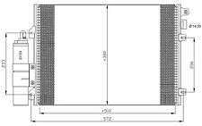 NRF Condensador, aire acondicionado RENAULT CLIO DACIA SANDERO LOGAN 35771
