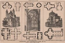 Churches for congregations, No. VI. Class II, plans without columns 1869 print
