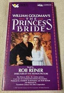 THE PRINCESS BRIDE Abridged 2 Cassette Tape Audiobook WILLIAM GOLDMAN 1987 MINT