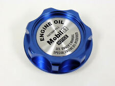 SUZUKI MOBIL 1 SYNTHETIC BILLET ENGINE OIL CAP BLUE NEW