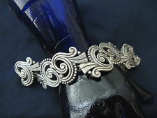 Sterling Silver Los Castillo Bracelet  Mexican Heavy Vintage Safety Chain