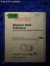 Sony Manual Dsc P30/P50 Digital Still Camera (#3234)