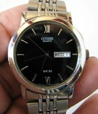 Citizen 2500 Quartz Day and Date Watch in Stainless Steel