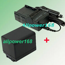 Battery + Charger For Canon BP-727 BP727 BP-718 6055B002 R306 R32 R36 Camcorder