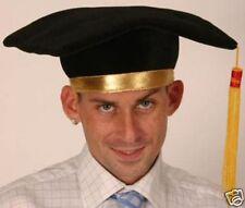 Graduation Mortar School Plush Hat Fancy Dress Costume Accessory