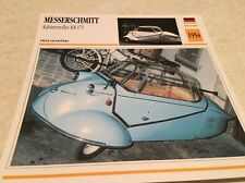 Carte moto Messerschmitt kabinenroller KR175 1954 collection Atlas Allemagne