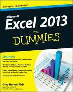 Excel 2013 For Dummies - Paperback By Harvey, Greg - GOOD