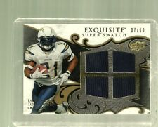 2008 UD-Exquisite-Super Swatch Quad-LaDainian Tomlinson-Limited #7 of 50-NM