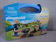Playmobil Family Fun 5649 Backyard Barbecue Carry Case-NEUF & neuf dans sa boîte