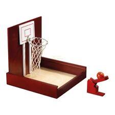 Mini Basketball Tischspiel - Hevea Holz - mit Katapult und Kugel