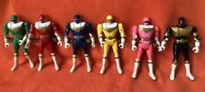 1996 Bandai Head Flipping Mighty Morphin Power Rangers; Set of 6 Action Figures