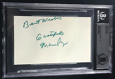 "Mario Puzo ""THE GODFATHER"" AUTOGRAPHED INDEX CARD SIGNED BECKETT BAS GRADE 10"
