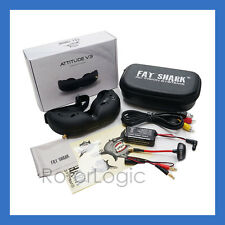 FatShark Attitude V3 3D FPV Goggles Headset Fat Shark FSV1045 -OPEN BOX