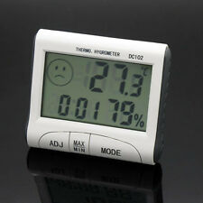 DC102 LCD Display Thermometer Humidity Temperature Hygrometer Meter Clock White