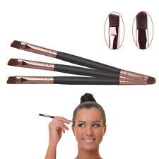 Eyebrow Double Ended Flat Angled Eyeliner Eyeshadow Brow Brush Makeup Tool