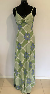 Original Vintage 1970s Maxi Dress Size 12  Coundown by Osti  As New