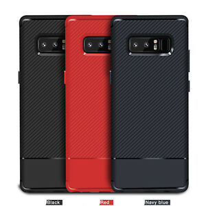 Luxury Shockproof Carbon Fiber Slim Soft TPU Case Cover For Samsung Galaxy S8,S9