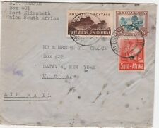 1943 SUID AFRICA Airmail Cover USA