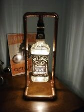 JD Steampunk Copper, Bottle Lamp, Table Light, Jack Daniels, Vintage,Retro