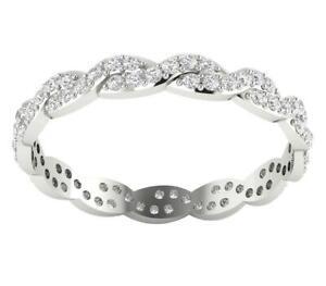 Natural Diamond I1 G 0.77 Ct Eternity Wedding Ring 14K Rose Gold Appraisal RS-6