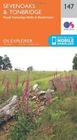 OS Explorer Map (147) Sevenoaks and Tonbridge by Ordnance Survey, NEW Book, FREE