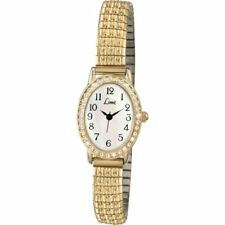 Limit Womens Quartz Watch With White Dial Analogue Display and Gold Stainless