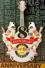 2021 HARD ROCK CAFE VENICE 8TH ANNIVERSARY JESTERS GUITAR LE PIN