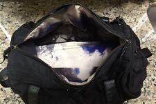 Women's LULULEMON Keep On Running Duffel Gym Bag Spray Dye Twinkle Emboss Black