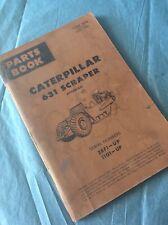 CAT CATERPILLAR 631 Scraper TRACTOR PARTS BOOK MANUAL S/N 28F1-UP 11G1-UP Guide