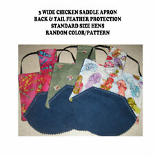3 WIDE w TAIL  Chicken Saddle Apron Hen BACK FEATHER PROTECTION BACKYARD POULTRY