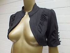 REVIEW CROP BOLERO JACKET COAT TOP SHRUG XS  6