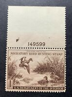 WTDstamps - #RW9 1942 - US Federal Duck Stamp - Mint H