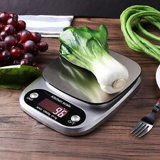 Küchenwaage bis 10KG/1g Electronic Digitale Edelstahl LCD Anzeige mit Batterie