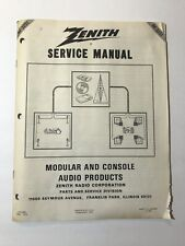 Zenith Modular and Console Audio Products - Technicians Manual and Schematics