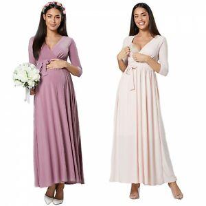 HAPPY MAMA Women's Maternity Breastfeeding Wedding Bridesmaids Dress 1197