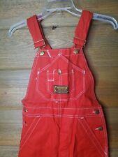 Washington DeeCee Usa Deadstock Nos Red Cotton Vintage overalls Bibs 26 × 34