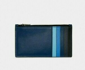 Coach Zip Card Case Wallet Colorblock Leather 91241 Nwt