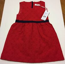 NWT Vineyard Vines Holiday Classic Fit Flare Dress Size 3T Red Xmas Tomato Check
