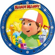 10 piatti dolce per feste a tema Handy Manny in cartoncino